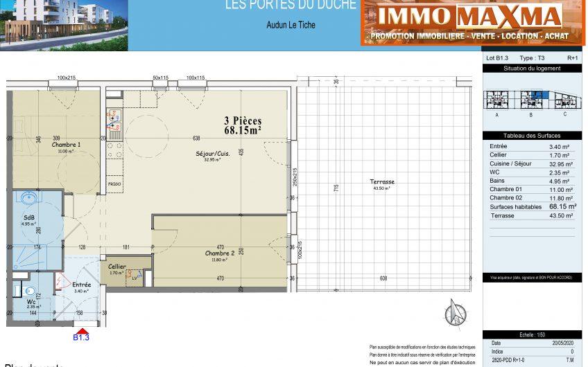 Audun-le-Tiche-Appartement à vendre 68m²