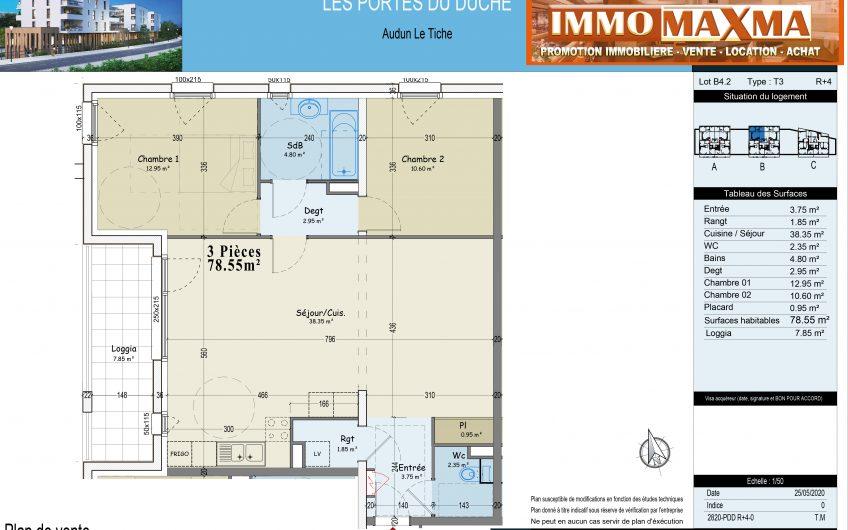 Audun-le-Tiche-Appartement à vendre 78m²