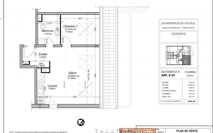 Appartement à vendre à Apach- France