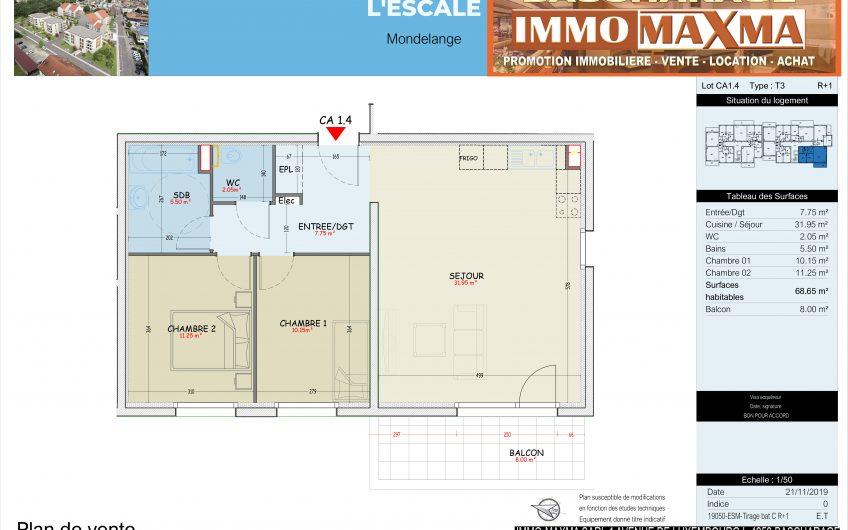 Appartement à vendre à Mondelange-France