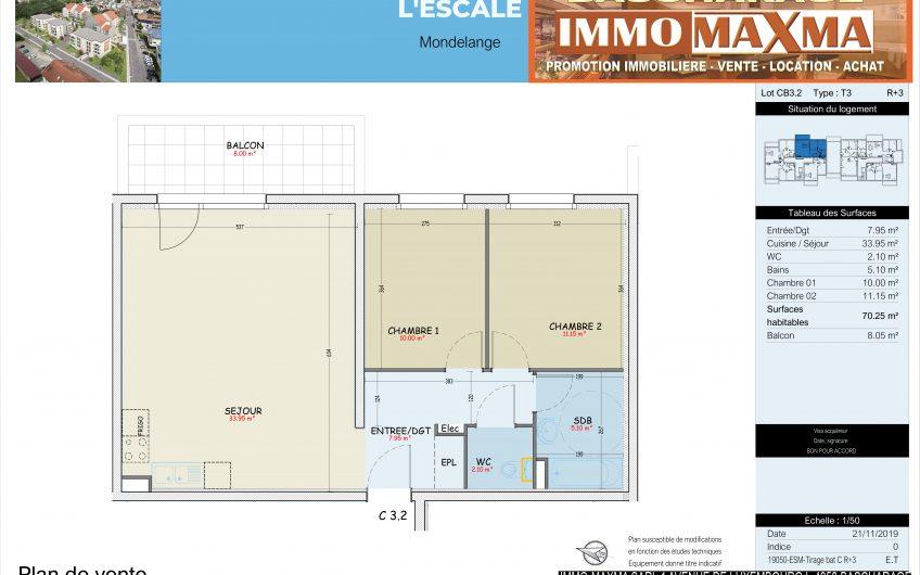 Appartement à vendre à Mondelange- France